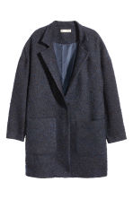 Bouclé coat - Dark blue - Ladies | H&M GB 2